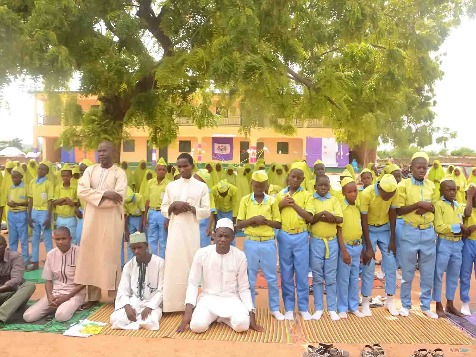 Students Performing Prayers